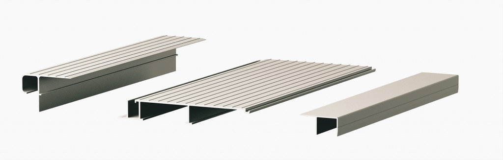 Aluminum decking components