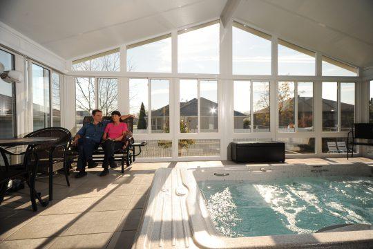 All Season Sunroom with Pool