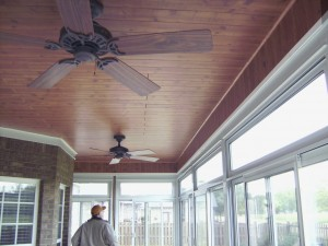 Sunroom Wood Trim for the ceiling