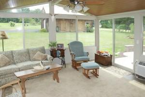 all season sunroom wood ceiling planks