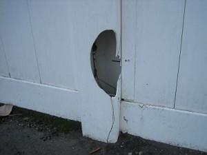 brittle PVC railing