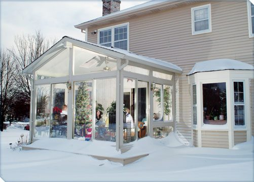 Betterliving sunroom in winter
