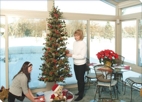 Christmas in Betterliving sunroom