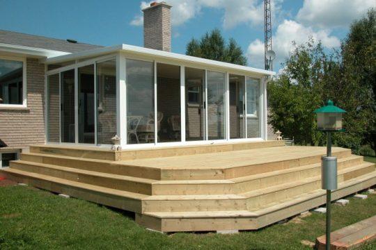 Three Season Sunroom with Deck