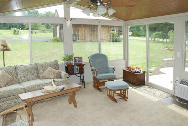 all season sunroom wood ceiling planks