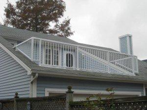 Garde-corps en aluminium / aménagement à même le toit