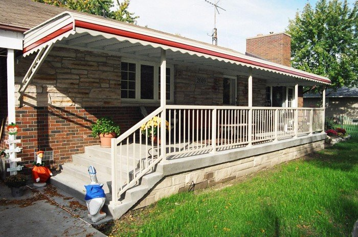 Aluminum Awning enjoy your front porch