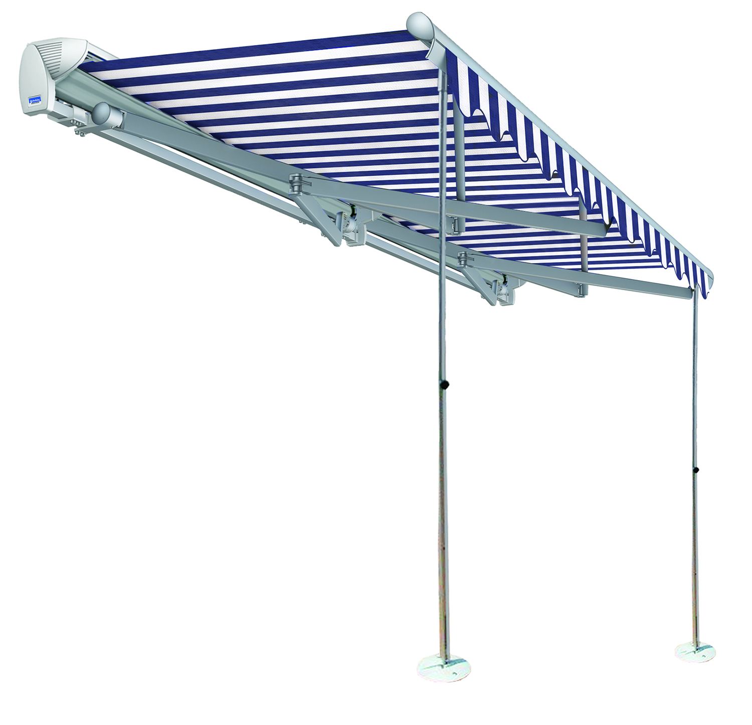 Retractable Awning for Large Openings
