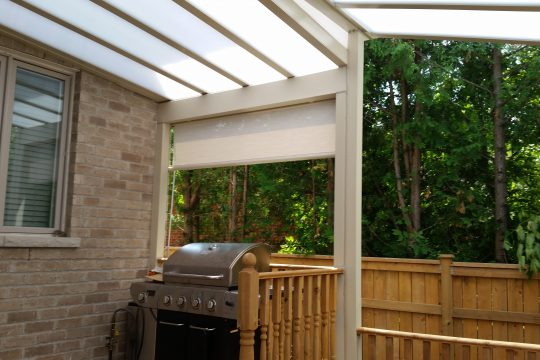 Retractable Vertical Fabric Shades and Privacy