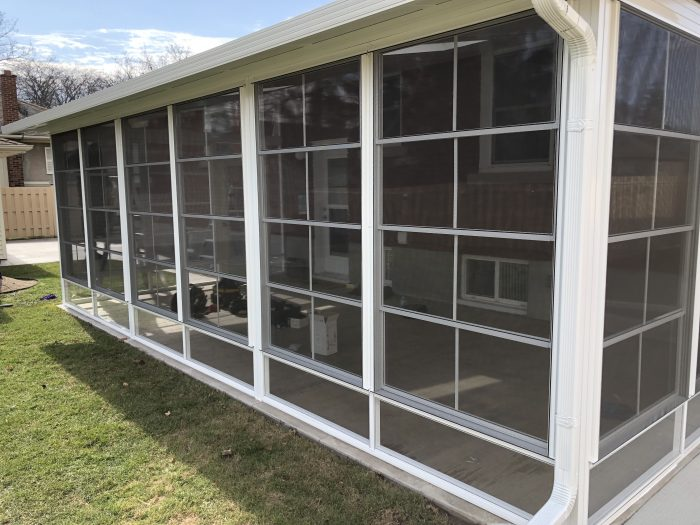 Stacking Vinyl Windows for Porch