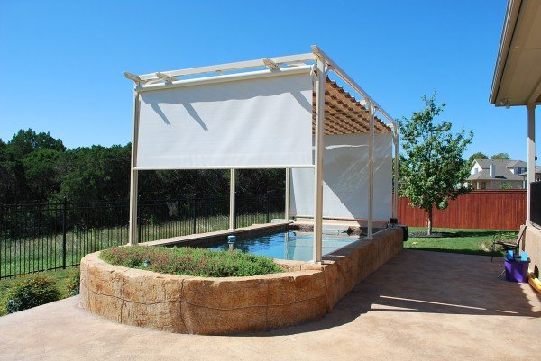 Retractable Canopy for Pool Cover