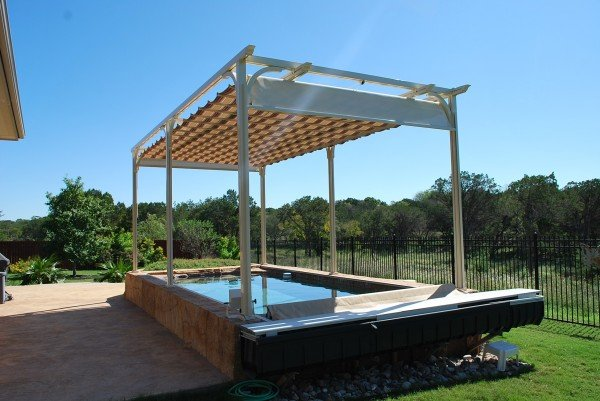 Retractable Canopy Free Standing Pergola Patio Canopy
