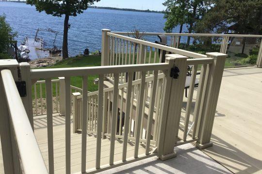 Aluminum Railing Gate - Walkout Basement - Waterproof Decking