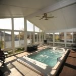 Cathedral Sunroom with Swim Spa