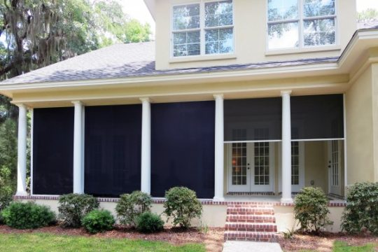 Motorized Screen for Garage, Porch & Patio