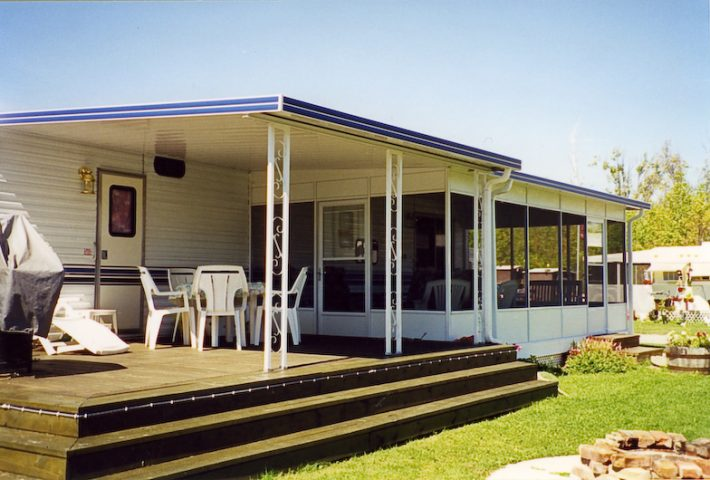Trailer porch patio covers