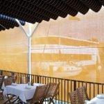 Solar Shades in Restaurant
