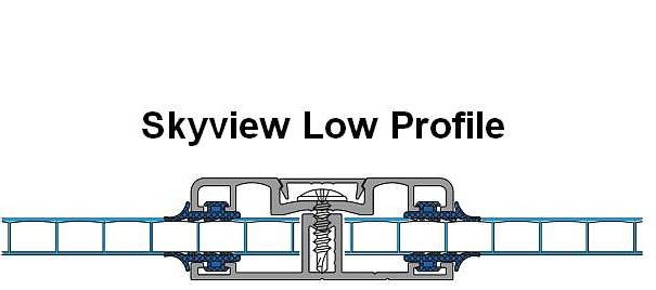 Skyview Low Profile polycarbonate clear roof