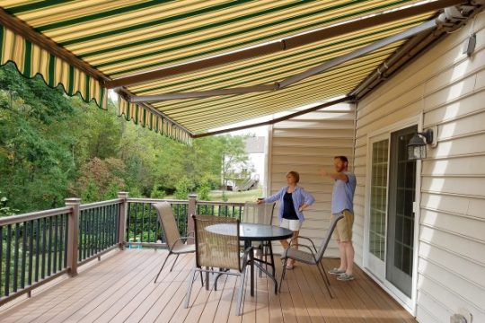 Retractable Fabric Awning