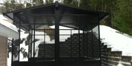 Black Aluminum Screen Room