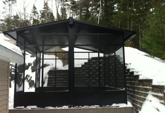 Black Aluminum Screen Room
