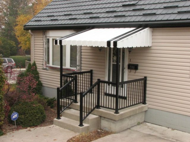 Aluminum Awning on Front Porch