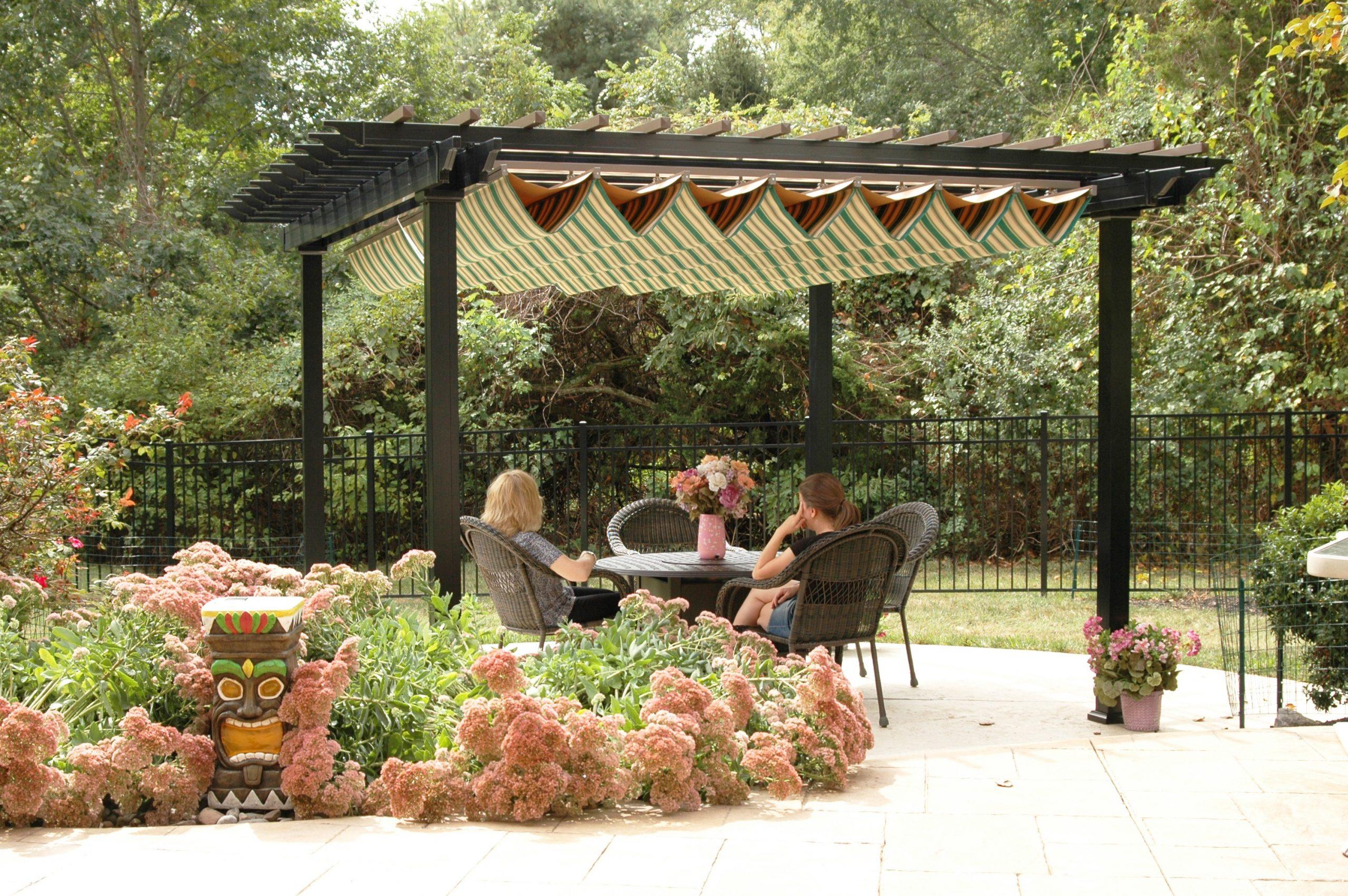 Pergola Retractable Canopy Fabric