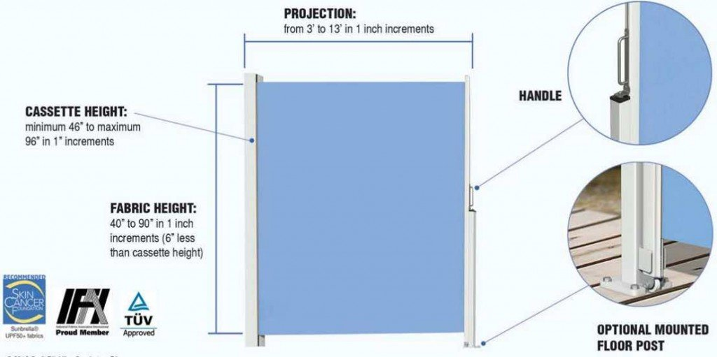 Horizontal Shade Height U0026 Projection Specifications