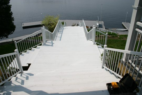 Muskoka boat house waterproof aluminum decking