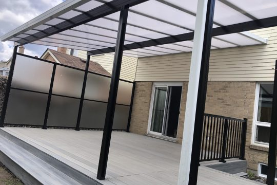 Patio Cover with Black Posts