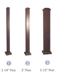 Poteaux pour garde-corps en aluminium