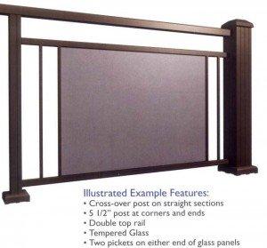 Glass Railing Sketch