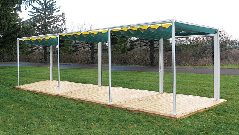retractable canopy stand alone