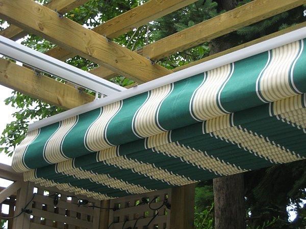 retractable canopy under existing pergola
