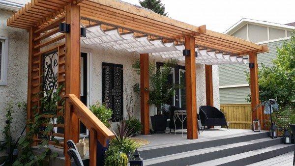 Retractable Canopy - Retractable Canopy Free Standing Pergola Patio Canopy : Craft Bilt