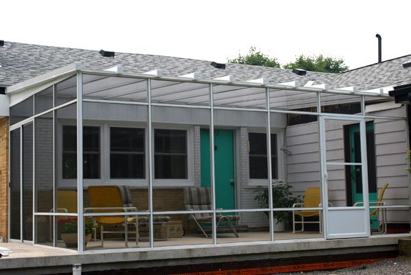 Screen Room With Clear Roof Skyview. Polycarbonate Roof