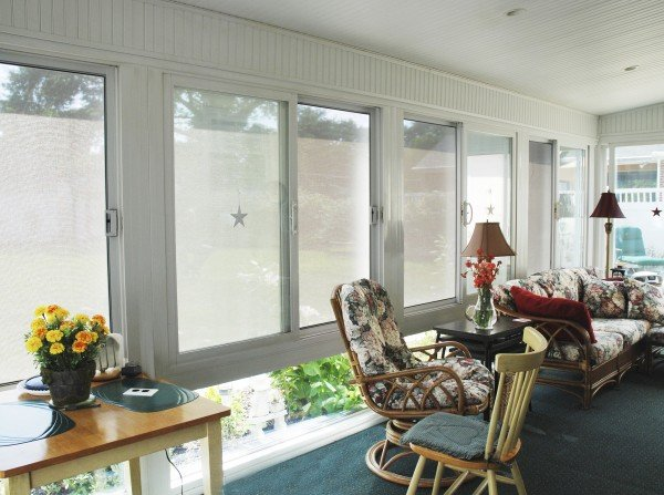 solar shade inside sunroom