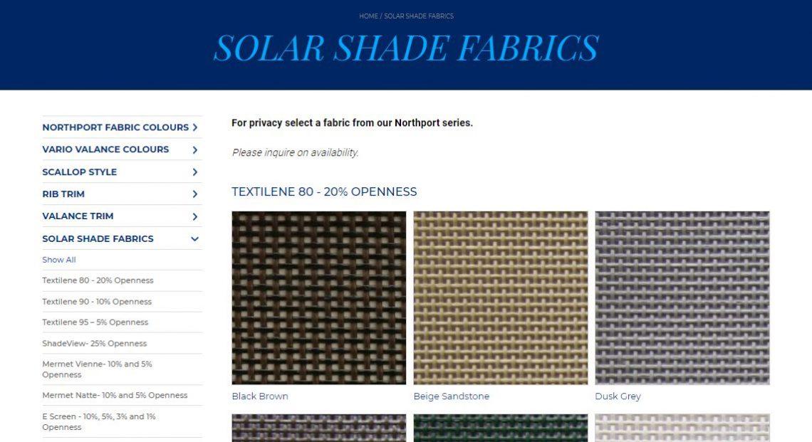 Solar Shade Fabrics