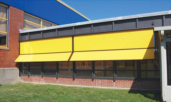 solar shades for commercial building