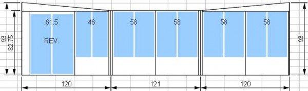 Kit de solarium 10 pi par 10 pi avec porte patio de 5 pieds