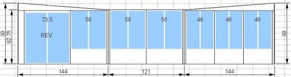 Kit de solarium 12 pi par 10 pi avec porte patio de 5 pieds