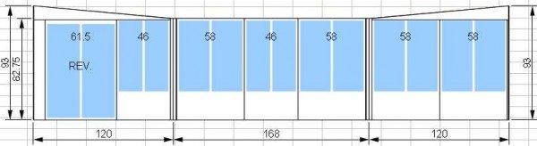 Kit de solarium 10 pi par 14 pi avec porte patio de 5 pieds