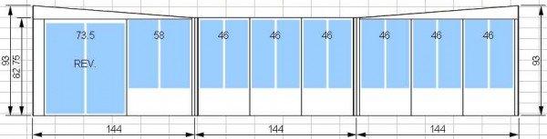 Kit de solarium 12 pi par 12 pi avec une porte patio de 5 pieds