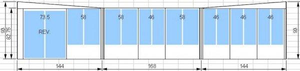 Kit de solarium 12 pi par 14 pi avec porte patio de 6 pieds