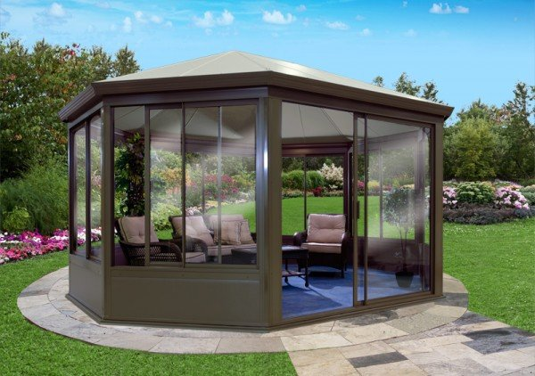 Free Standing Sunroom Maintenance Gazebo Aluminum Made In Canada Craft Bilt