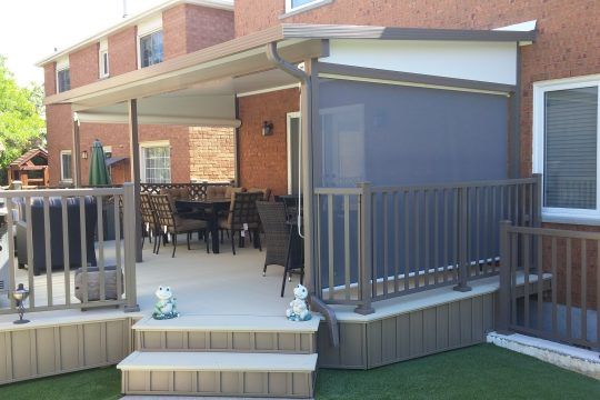 Full Patio Renovation and Aluminum Outdoor Railing