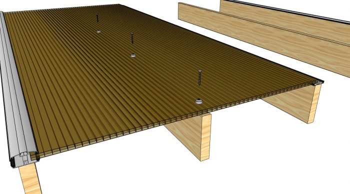 How to Install Polycarbonate Sheets on Wood Pergola-2