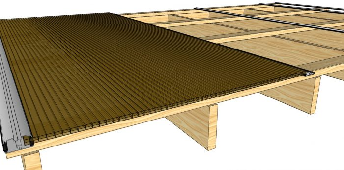 How to Install Polycarbonate Sheets on Wood Pergola-3