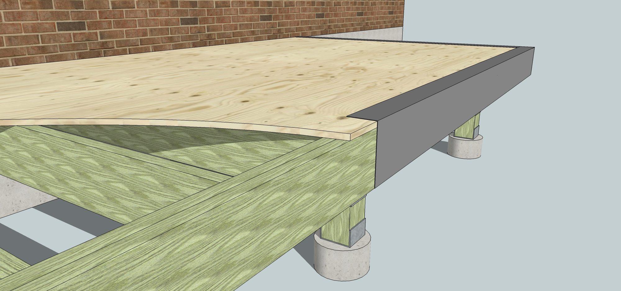 Sunroom Deck Flashing
