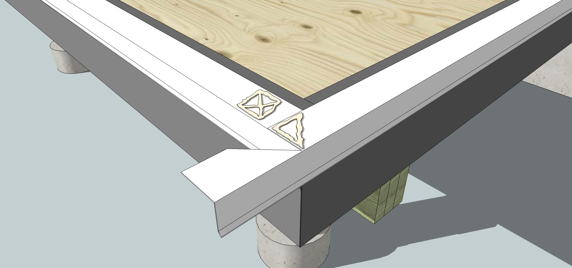 Sunroom Deck Flashing-2